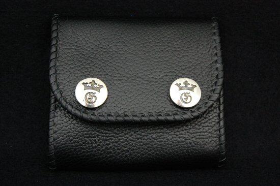 Photo3: Short Cross Inlay Buffalo Half Wallet