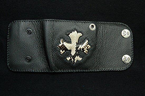 Photo4: Short Cross Inlay Buffalo Half Wallet