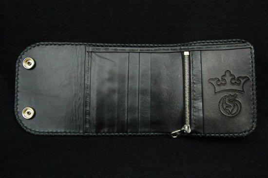 Photo5: Short Cross Inlay Buffalo Half Wallet
