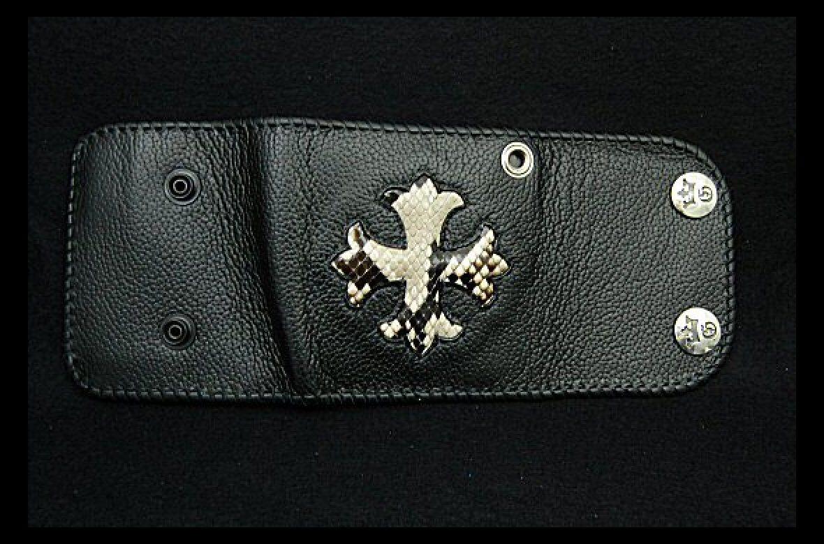 Photo1: Short Cross Inlay Buffalo Half Wallet