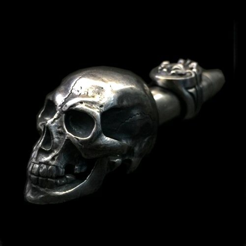 Photo1: Old Large Skull Ideal Smoke Pipe