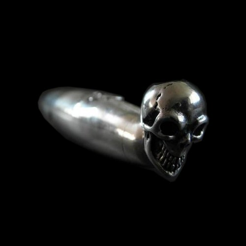 Photo1: Single Skull Smoke Pipe