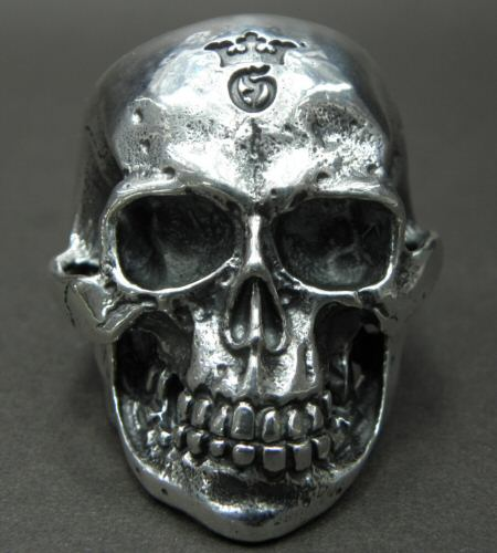 Photo2: Large Skull Ring with Jaw