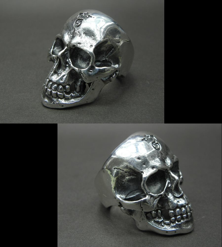 Photo4: Large Skull Ring with Jaw