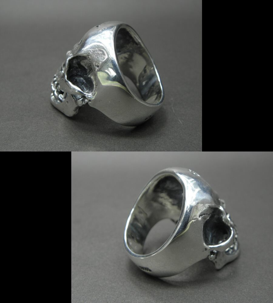 Photo5: Large Skull Ring with Jaw